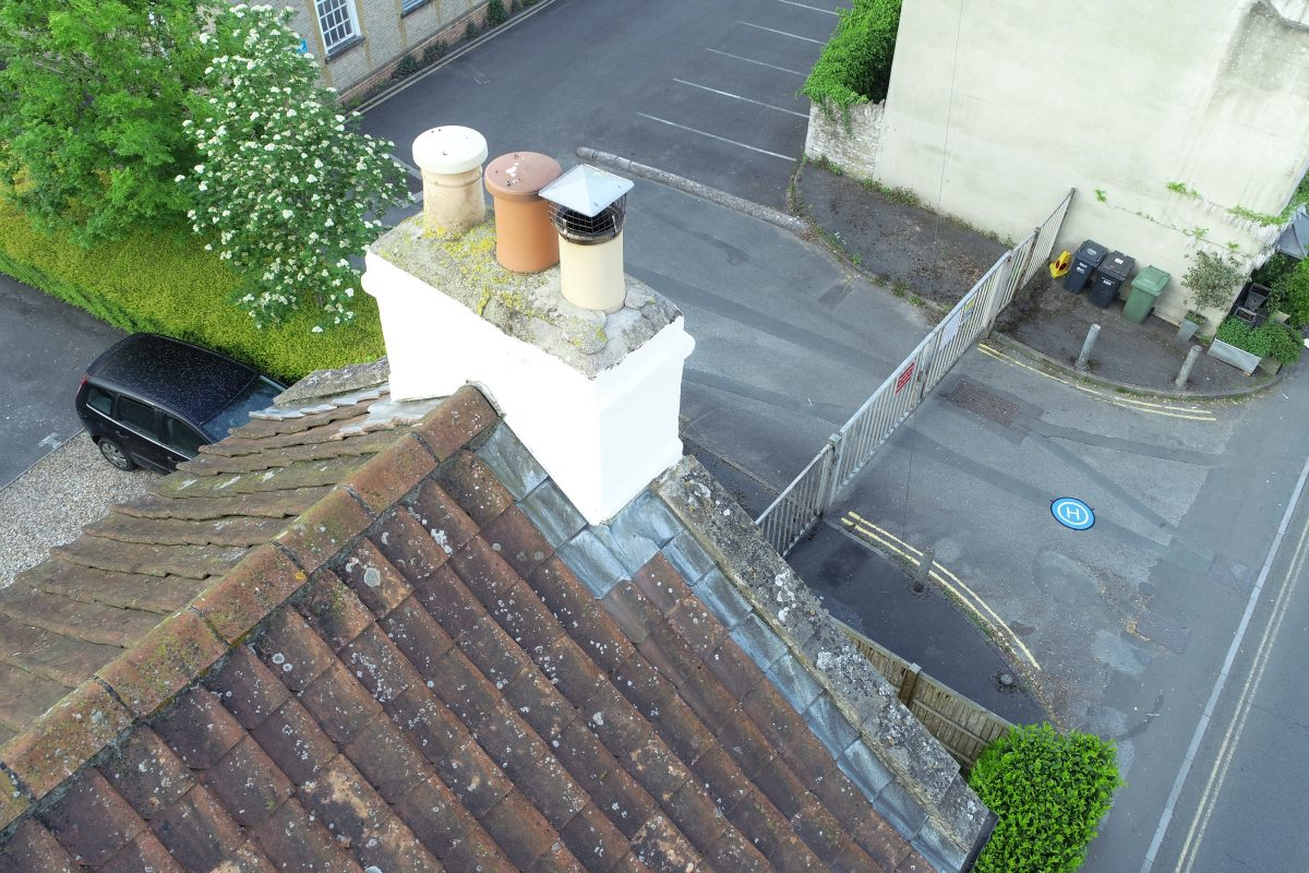 North Parade, Frome: chimney inspection 1