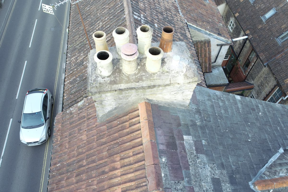 North Parade, Frome: chimney inspection 2