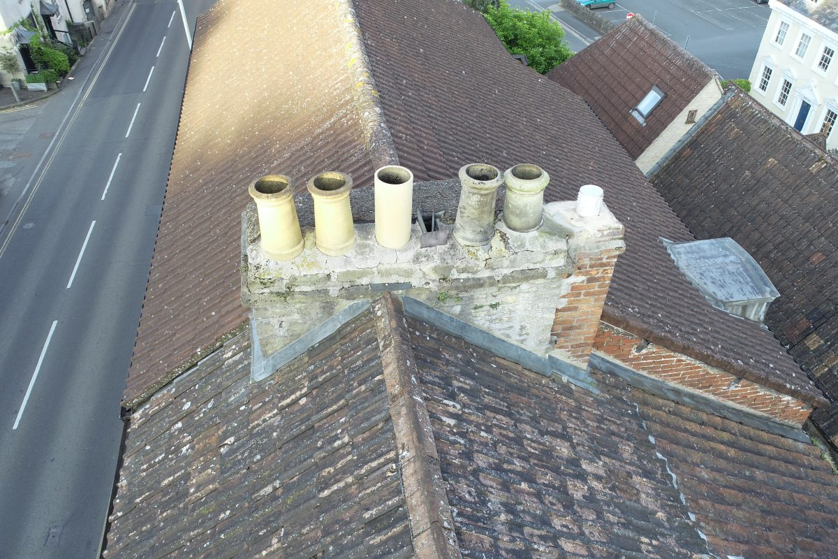 North Parade, Frome: chimney inspection 3